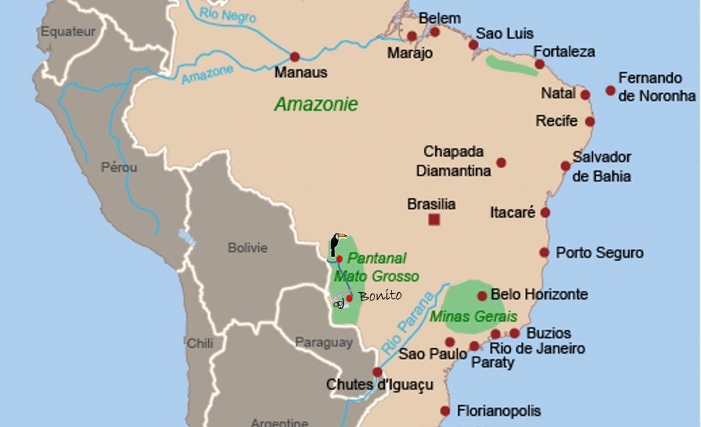Carte Amerique Du Sud Pantanal.Bresil A La Decouverte Du Pantanal